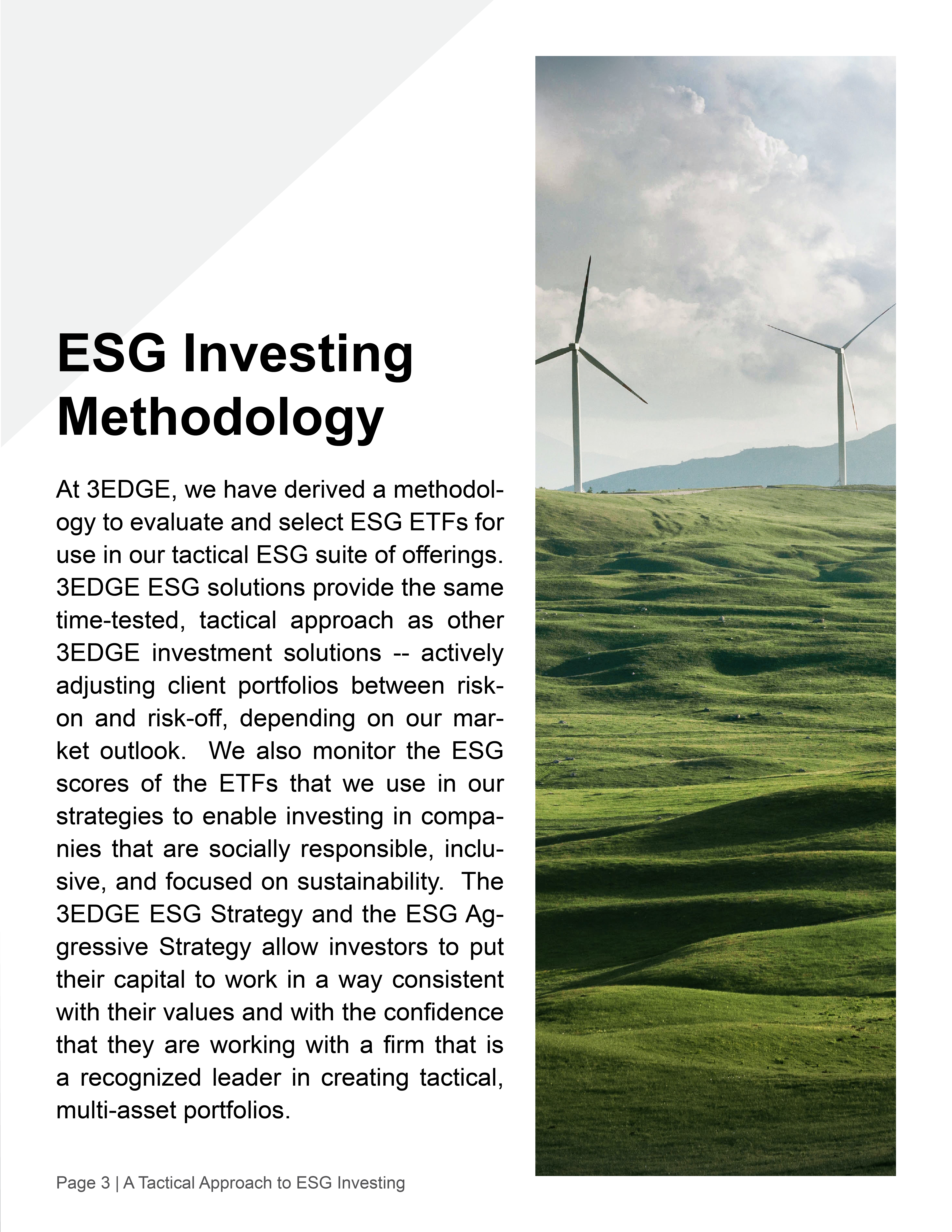 A Tactical Approach to ESG Investing3