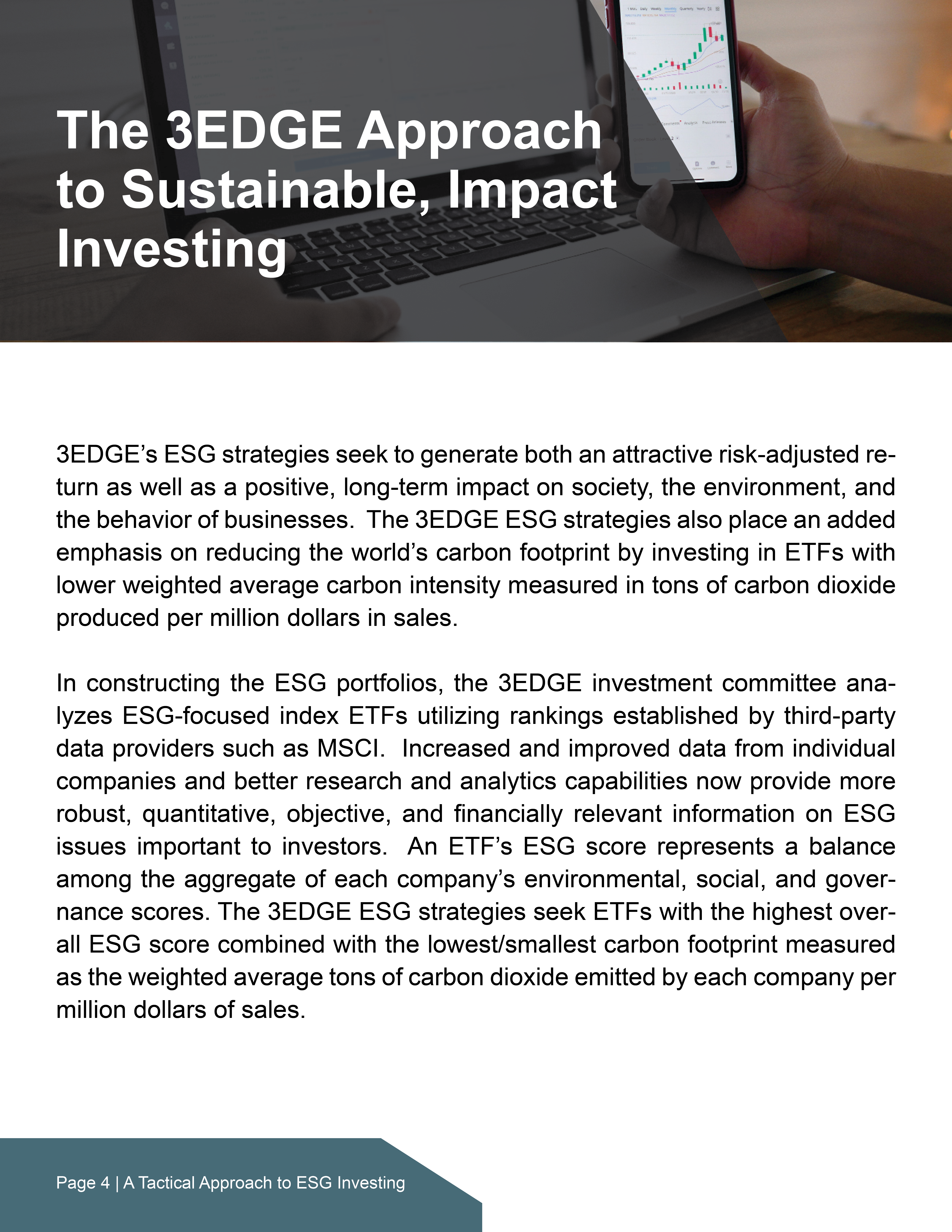A Tactical Approach to ESG Investing4